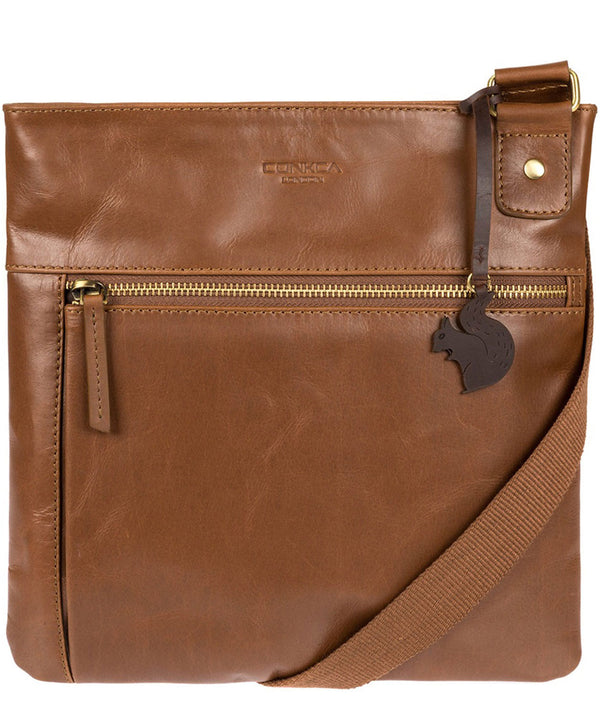 'Eden' Vintage Chestnut Handcrafted Leather Bag