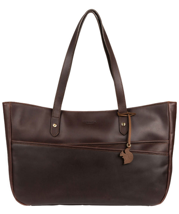 'Heron' Vintage Brown Handcrafted Leather Tote Bag
