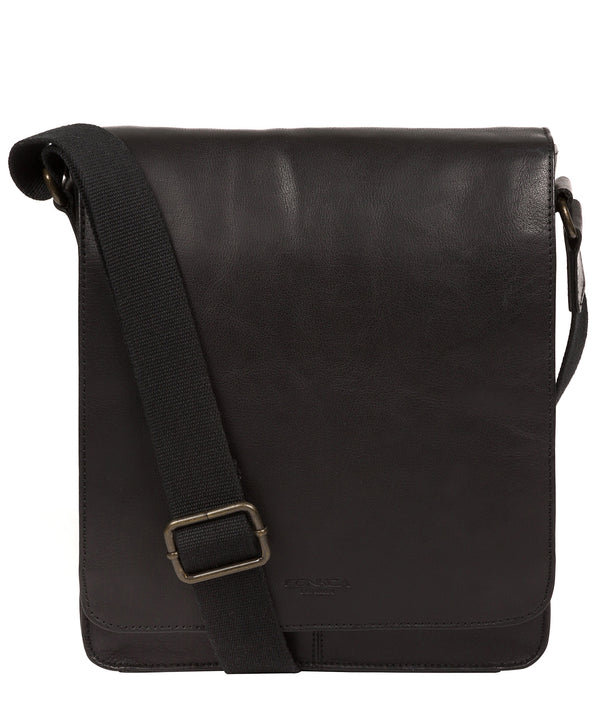 'Bowen' Black Leather Cross Body Bag image 1