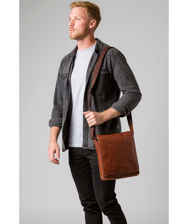 'Bowen' Conker Brown Leather Cross Body Bag image 2