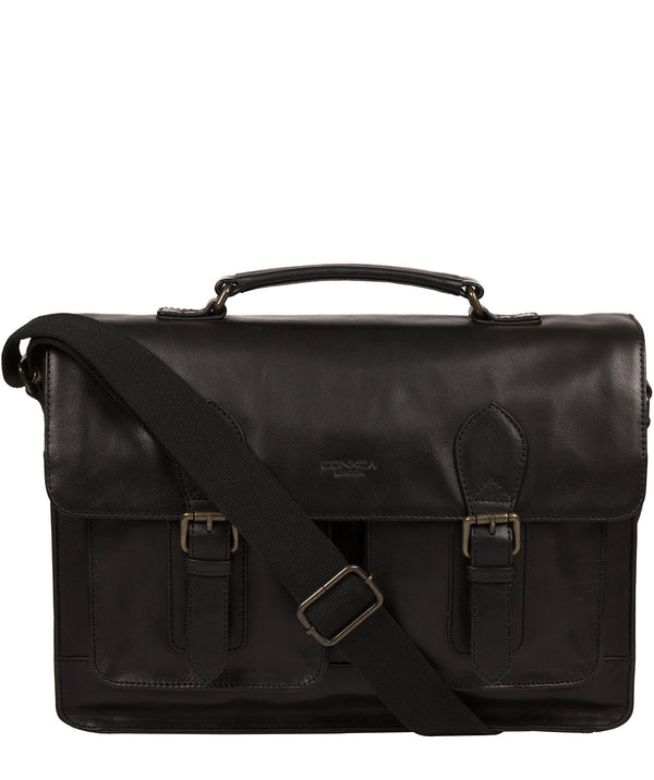 'Pinter' Black Leather Work Bag image 1