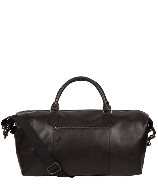 'Storey' Black Leather Holdall image 1