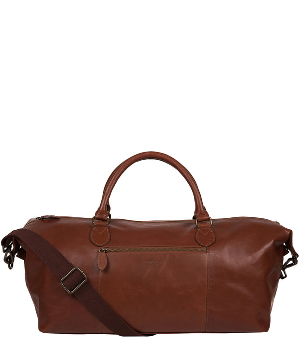 'Storey' Conker Brown Leather Holdall Pure Luxuries London