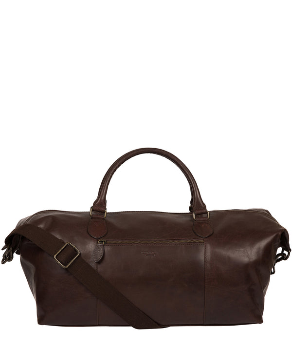 'Storey' Dark Brown Leather Holdall image 1