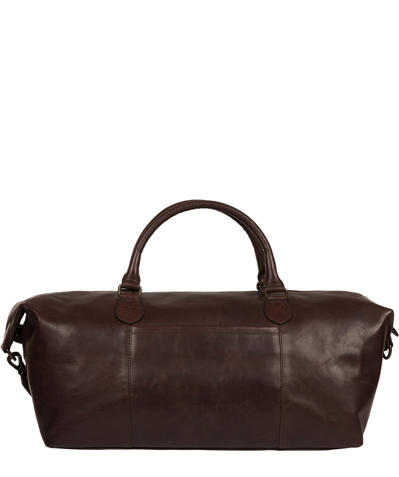 'Storey' Dark Brown Leather Holdall image 3