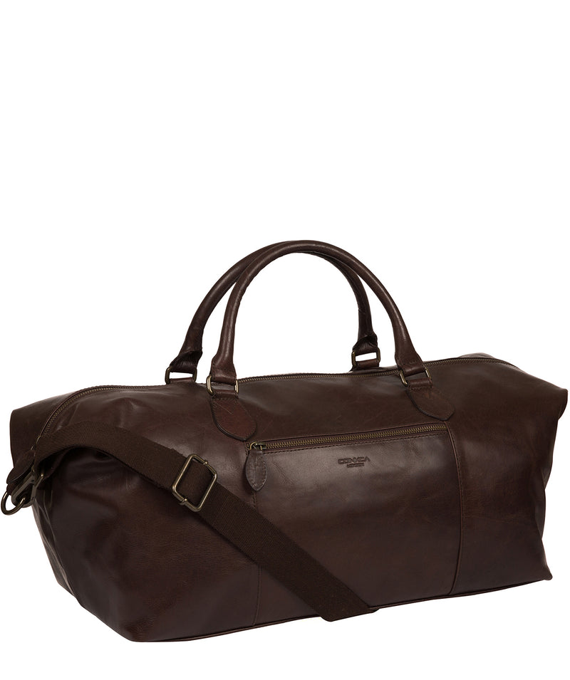 'Storey' Dark Brown Leather Holdall Pure Luxuries London