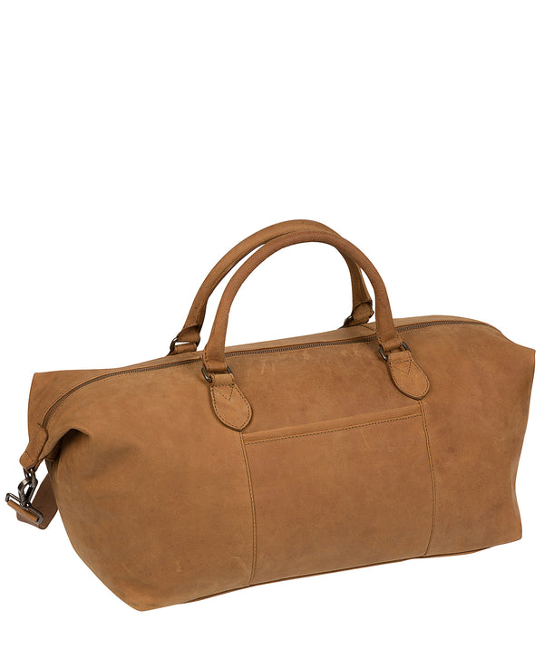 'Storey' Vintage Chestnut Leather Holdall