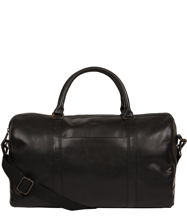 'Orton' Black Leather Holdall image 1