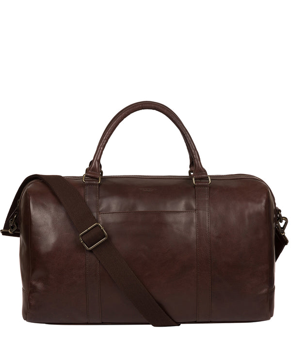 'Orton' Dark Brown Leather Holdall image 1