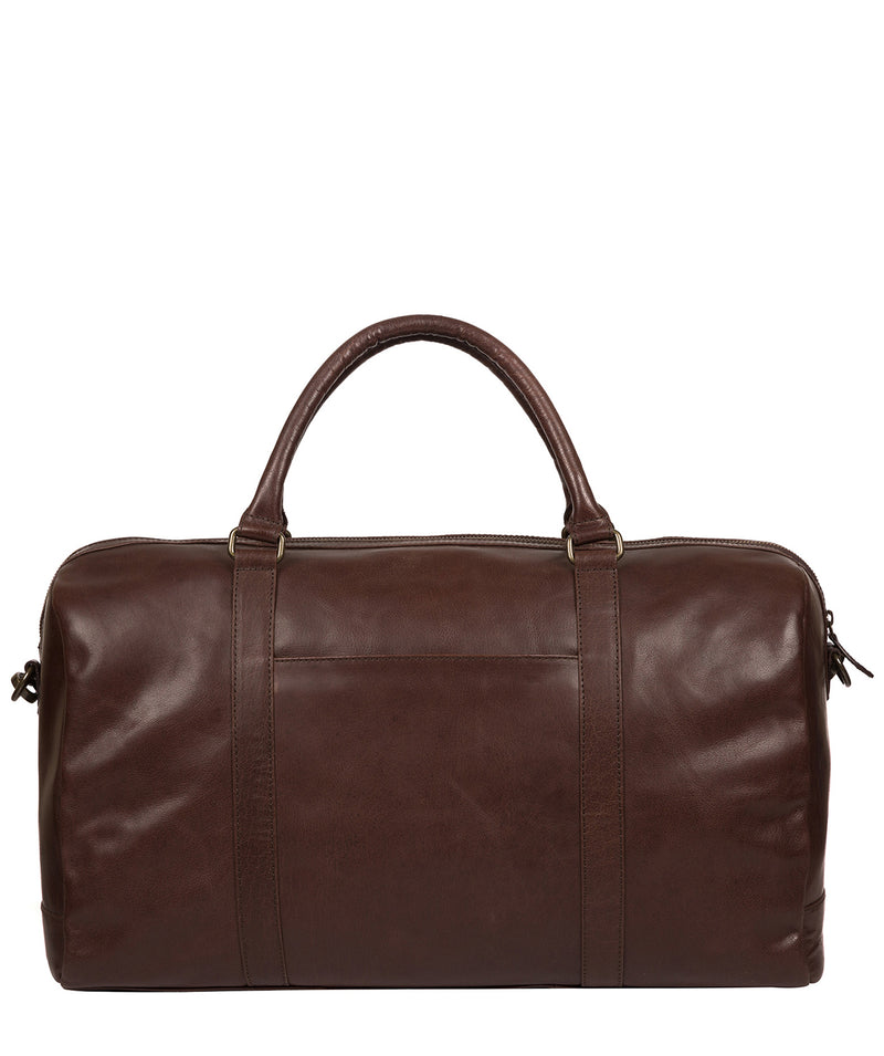 'Orton' Dark Brown Leather Holdall image 3