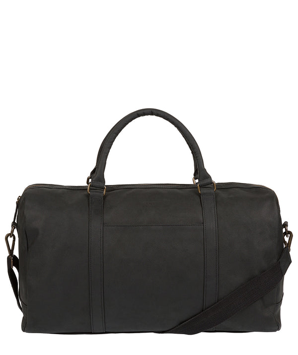 'Orton' Vintage Black Leather Holdall