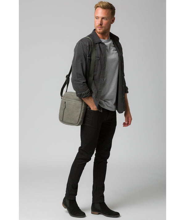 'Lowe' Vintage Grey Leather Despatch Bag image 2