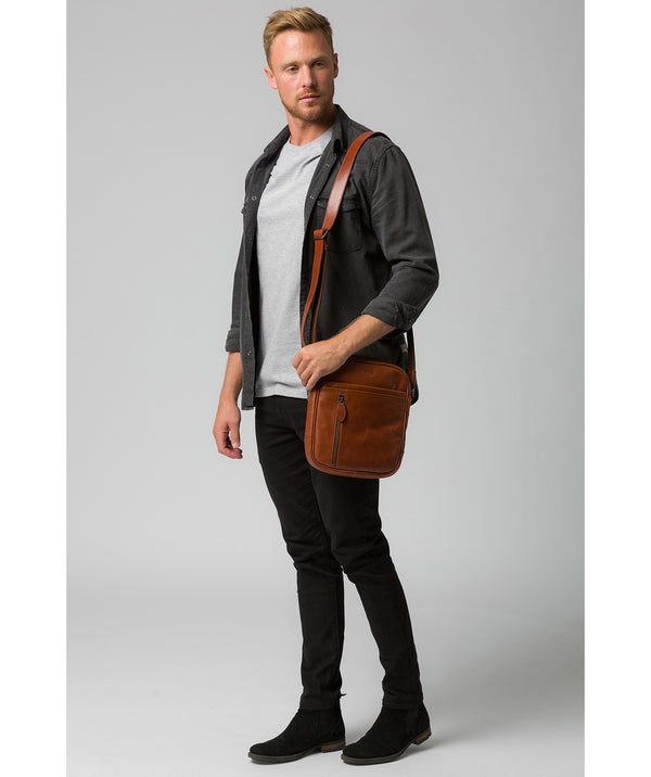 'Lowe' Conker Brown Leather Despatch Bag  image 2