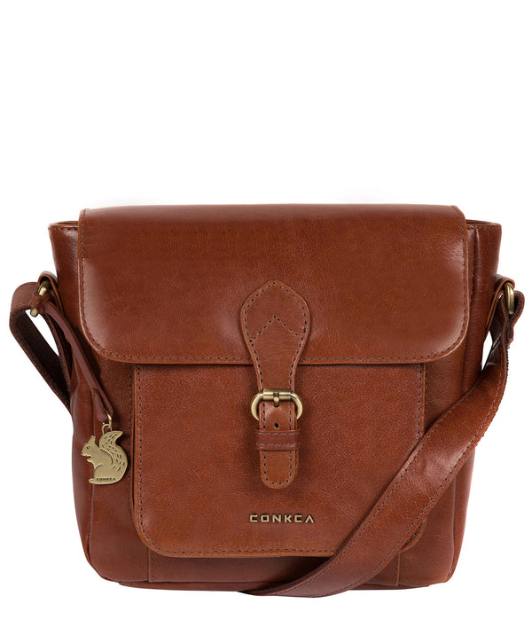 'Mojito' Cognac Leather Cross Body Bag image 1