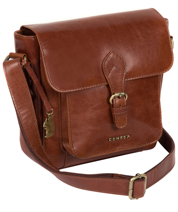 'Mojito' Cognac Leather Cross Body Bag image 3