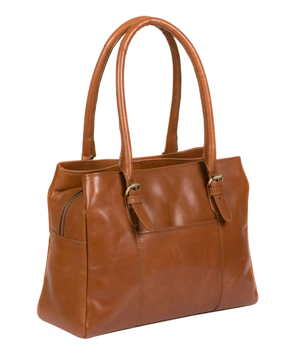 'Carmela' Tan Handcrafted Leather Handbag
