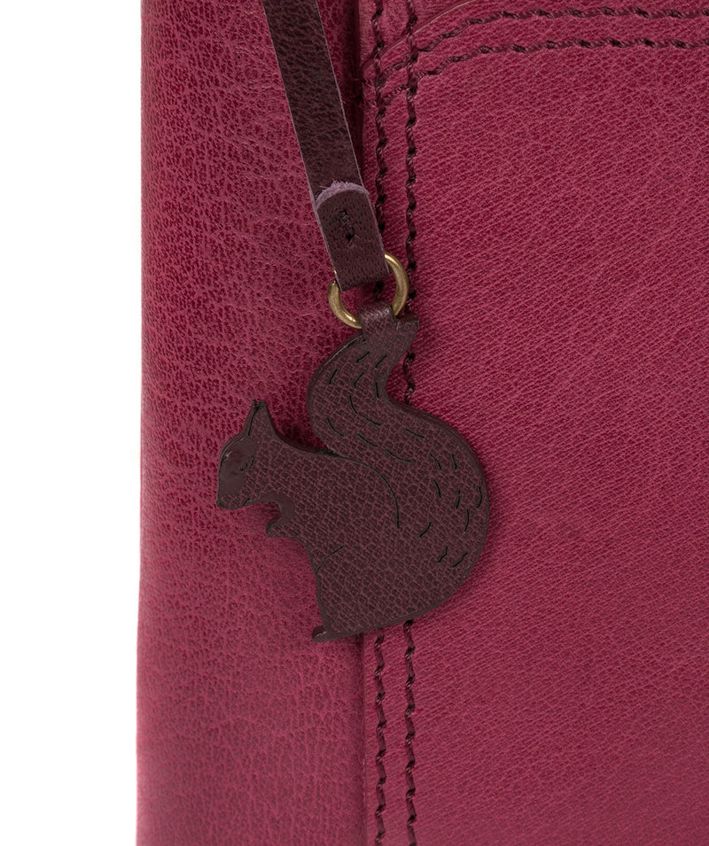 'Lina' Orchid Leather Cross Body Bag image 7