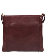 'Lina' Plum Leather Cross Body Bag image 3