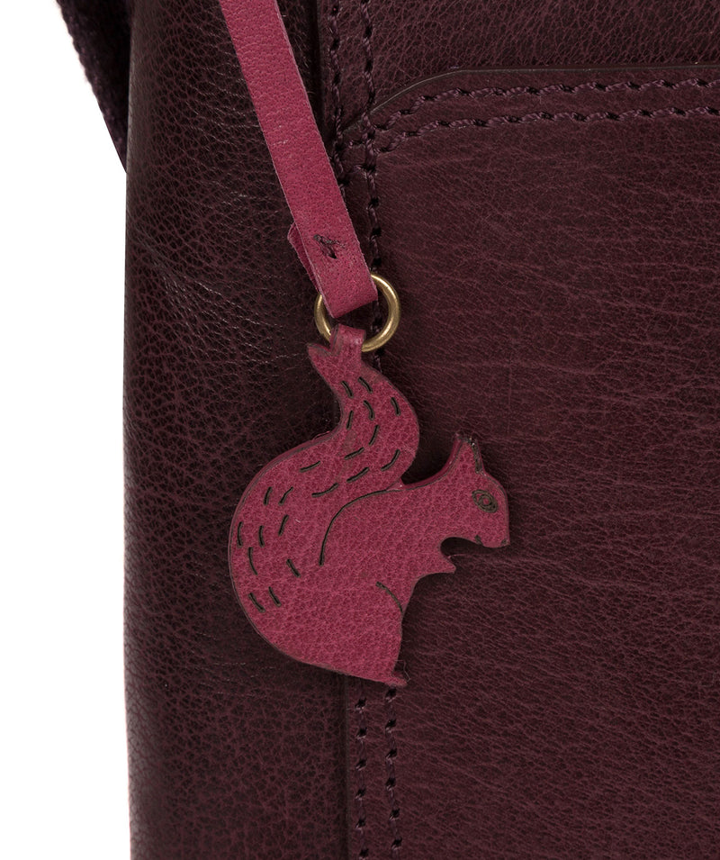 'Lina' Plum Leather Cross Body Bag image 7