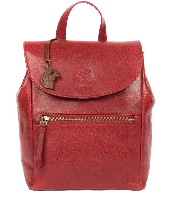 'Simone' Chilli Pepper Leather Backpack image 1