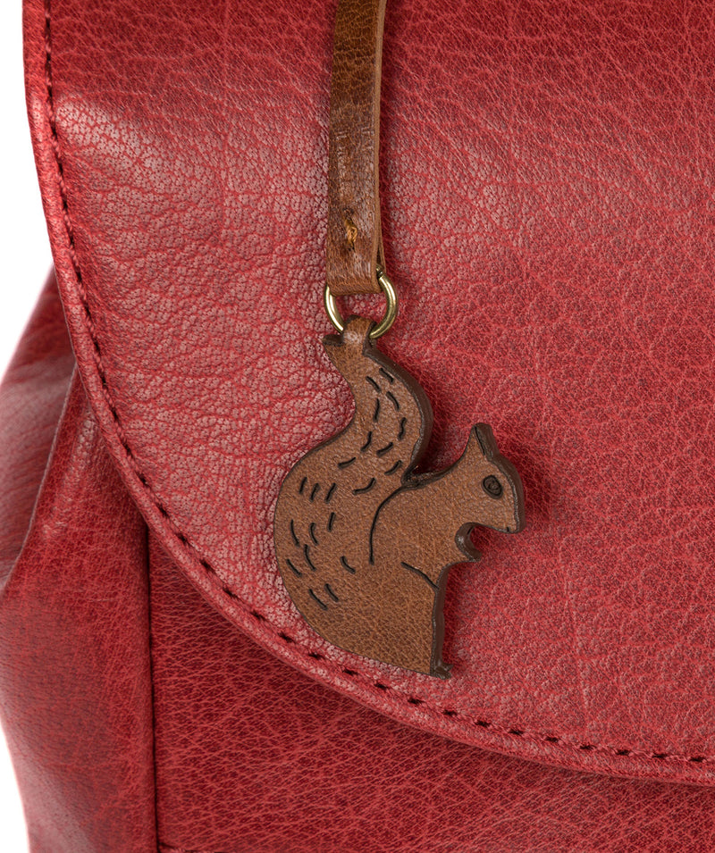 'Simone' Chilli Pepper Leather Backpack image 5