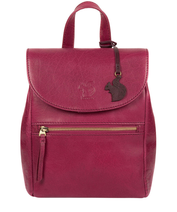 'Simone' Orchid Leather Backpack image 1