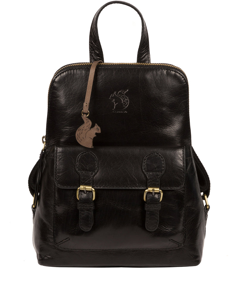 'Kendal' Black Leather Backpack image 1