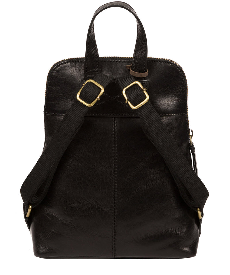 'Kendal' Black Leather Backpack image 3