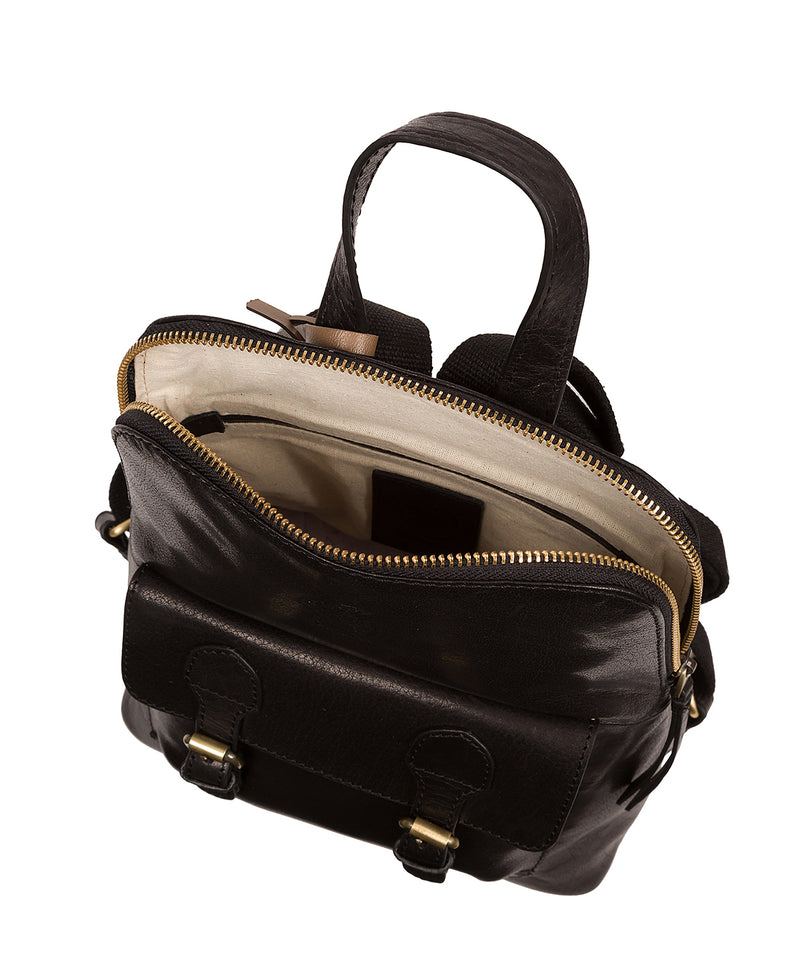 'Kendal' Black Leather Backpack image 4