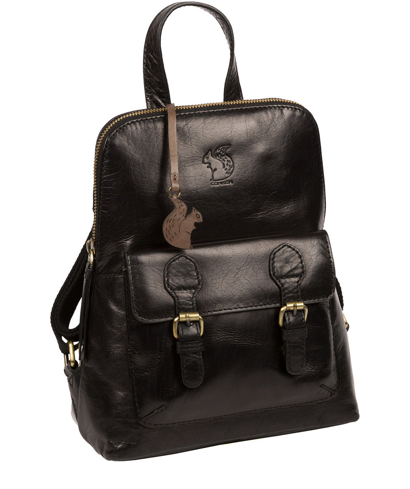 'Kendal' Black Leather Backpack image 5