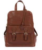 'Kendal' Conker Brown Leather Backpack image 1