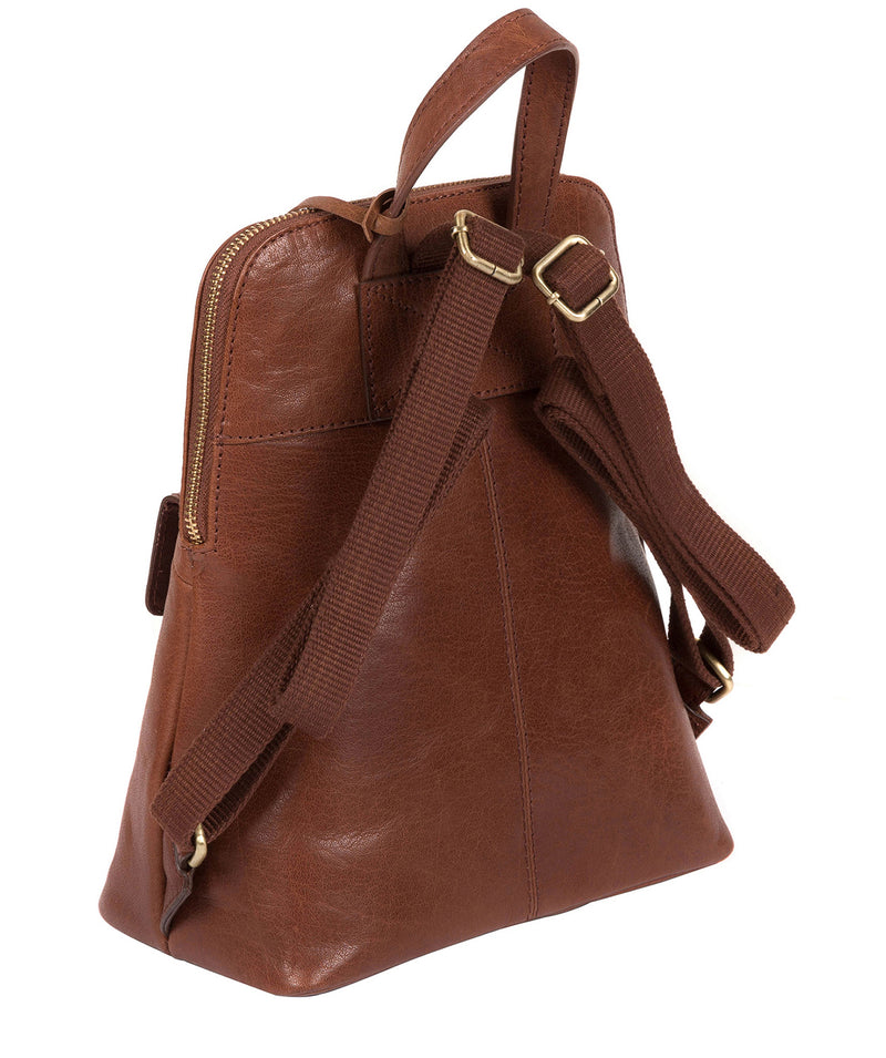 'Kendal' Conker Brown Leather Backpack image 4