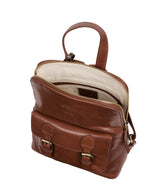 'Kendal' Conker Brown Leather Backpack image 5