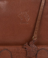 'Kendal' Conker Brown Leather Backpack image 7