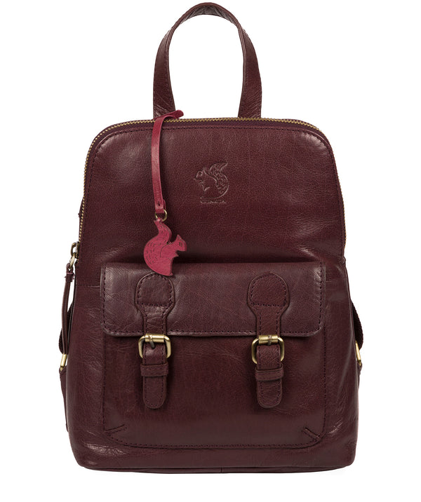'Kendal' Plum Leather Backpack image 1