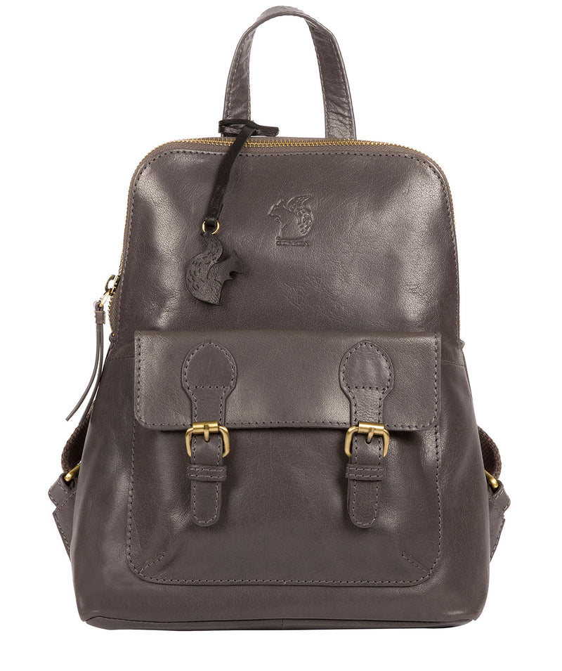 'Kendal' Slate Leather Backpack image 1