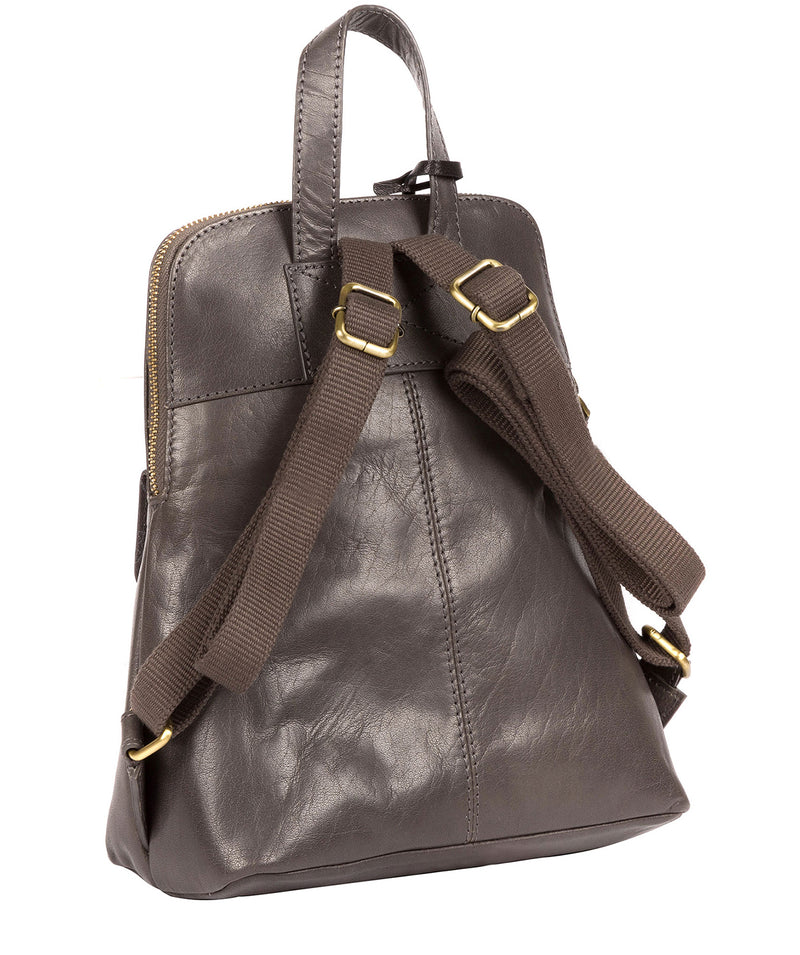 'Kendal' Slate Leather Backpack image 5