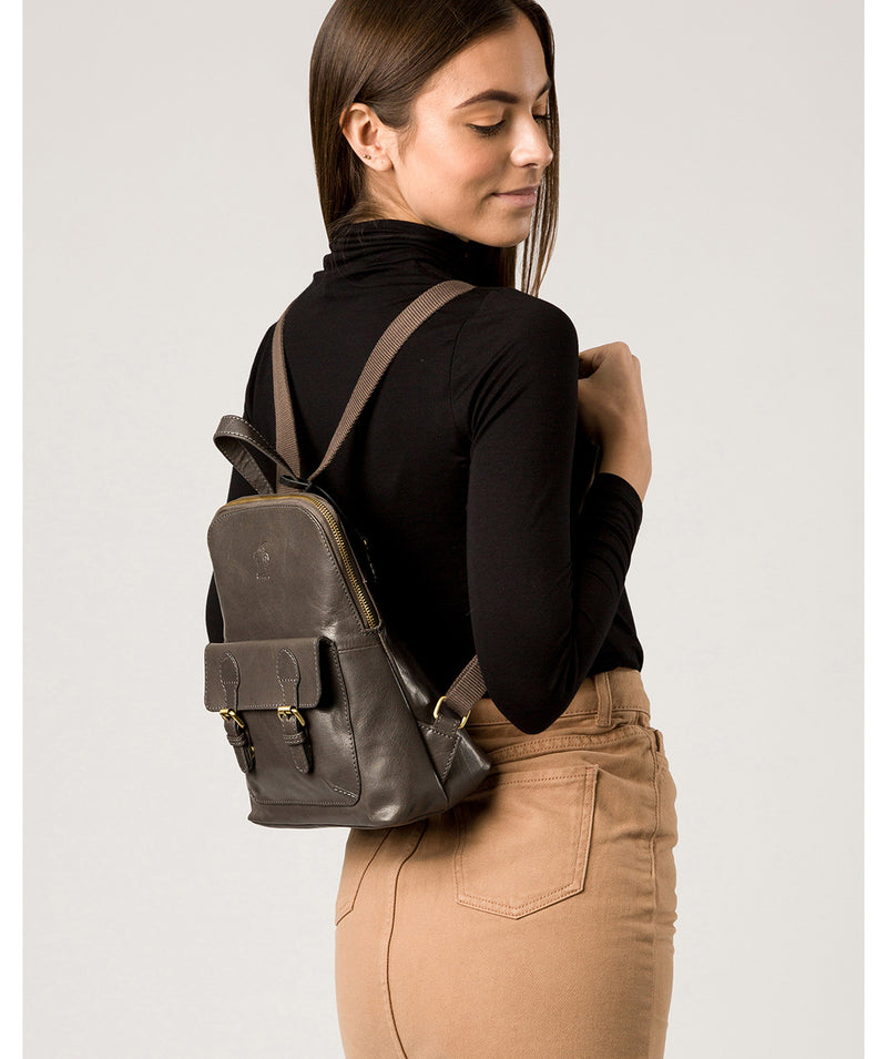 'Kendal' Slate Leather Backpack image 2