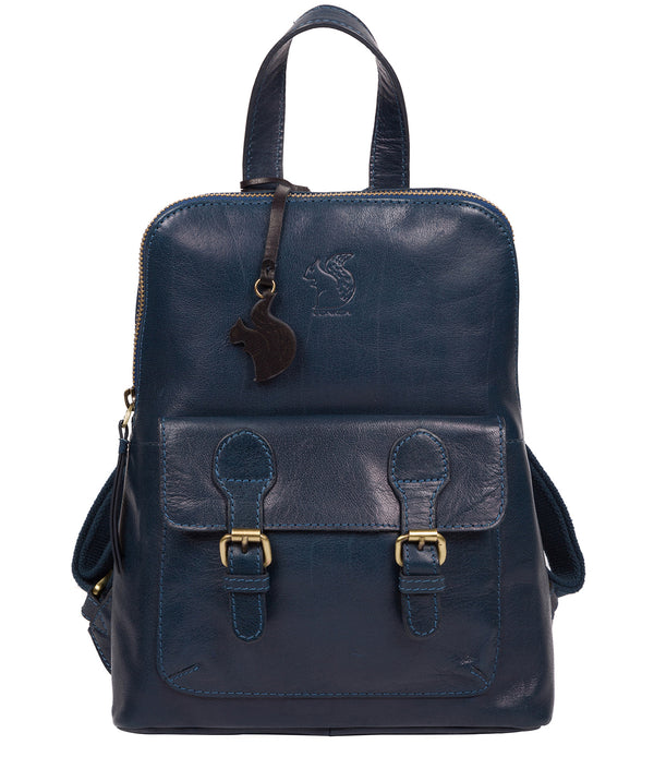 'Kendal' Snorkel Blue Leather Backpack image 1