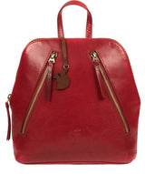 'Zoe' Chilli Pepper Leather Backpack image 1