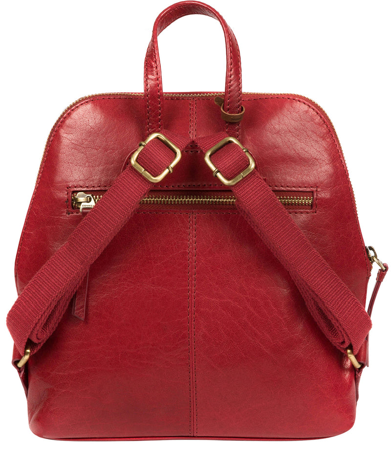 'Zoe' Chilli Pepper Leather Backpack image 3