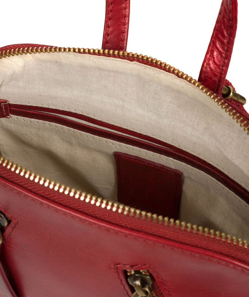 'Zoe' Chilli Pepper Leather Backpack image 4