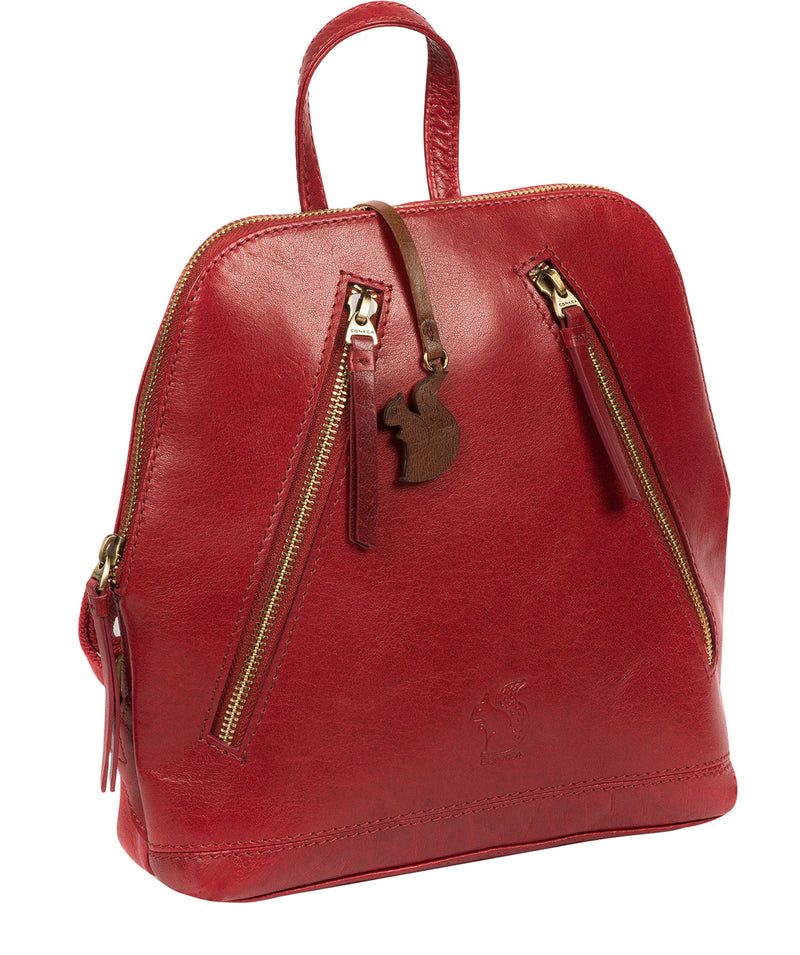 'Zoe' Chilli Pepper Leather Backpack image 5