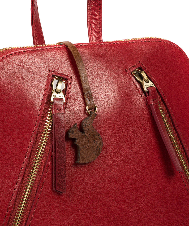 'Zoe' Chilli Pepper Leather Backpack image 6