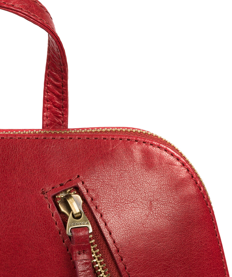 'Zoe' Chilli Pepper Leather Backpack image 7
