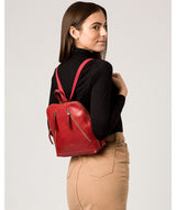 'Zoe' Chilli Pepper Leather Backpack image 2