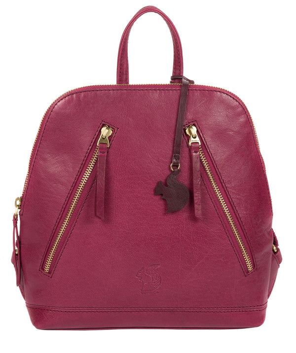 'Zoe' Orchid Leather Backpack image 1