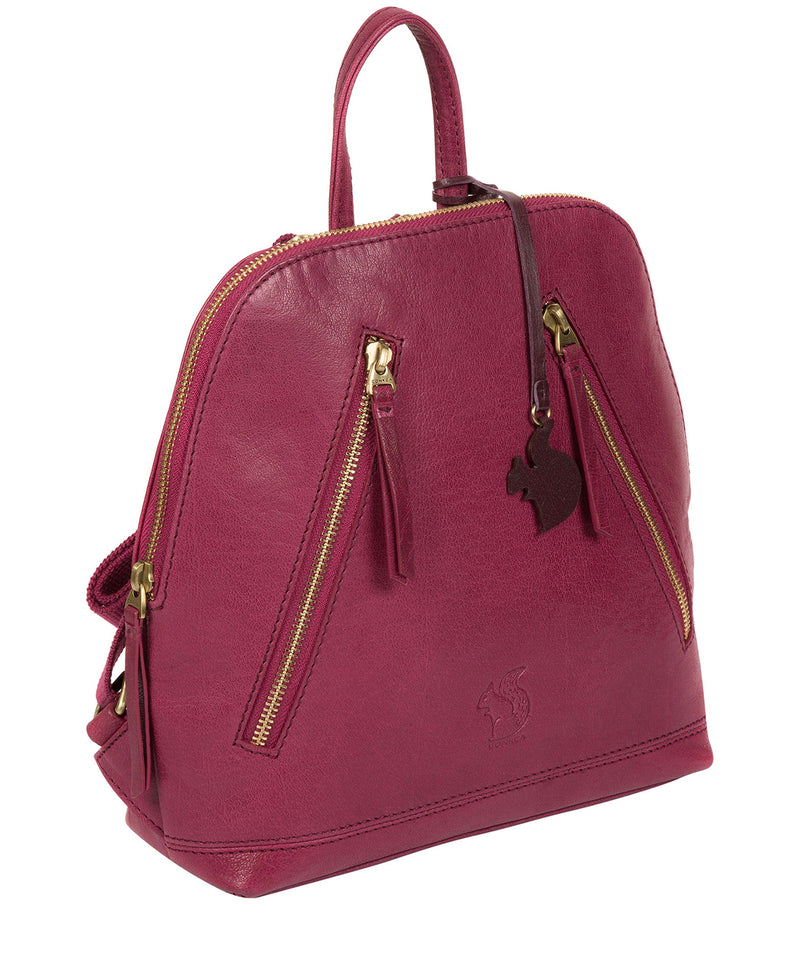 'Zoe' Orchid Leather Backpack image 3