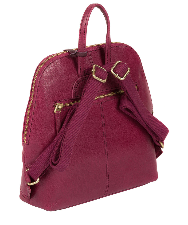 'Zoe' Orchid Leather Backpack image 4