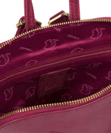 'Zoe' Orchid Leather Backpack image 5
